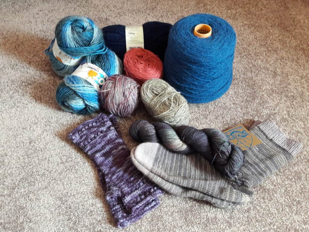 Knitting socks: the yarn stash