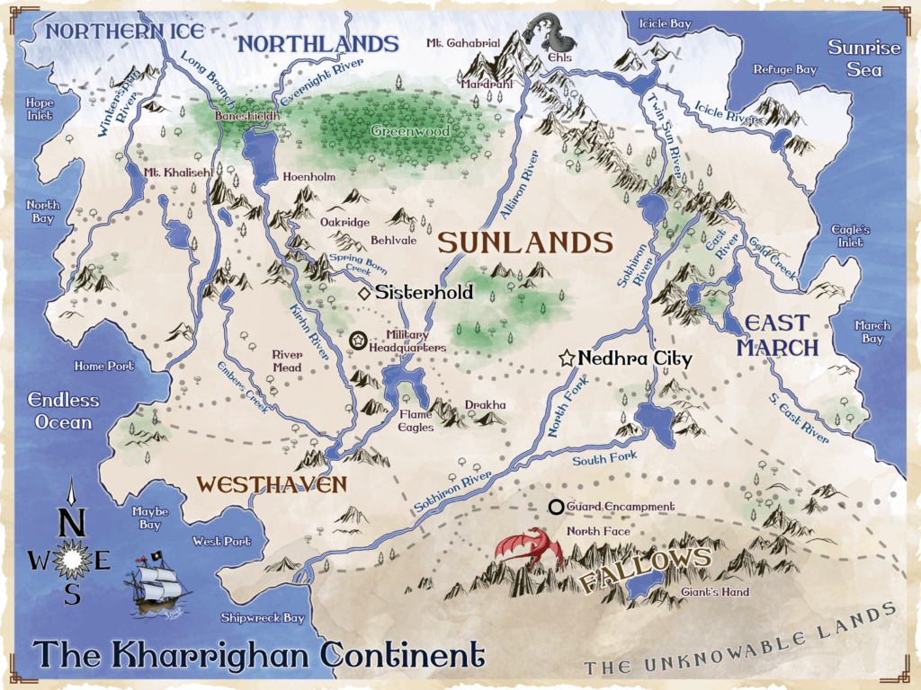 Map of the Sun Child Chronicles World | Lou Hoffmann