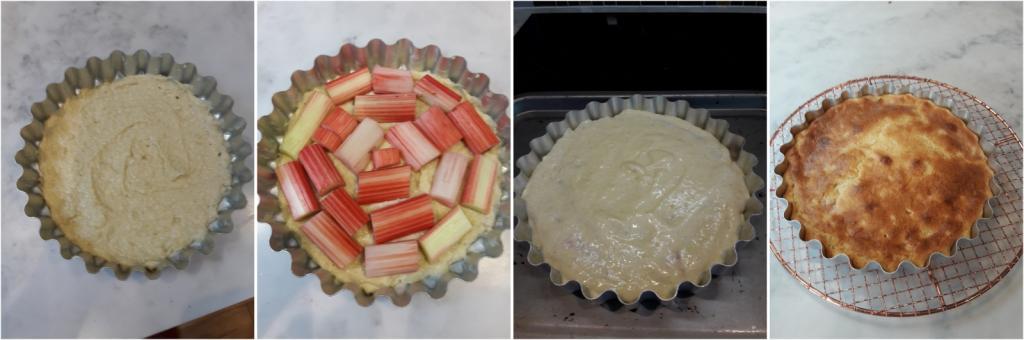 Making Rhubarb and Custard Cake